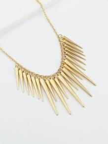 ff553f596c Golden Asymmetrical Geometric Pendant Necklace -SheIn(Sheinside)