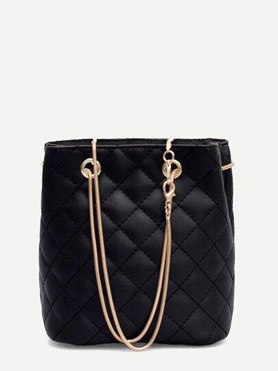 47bef431c895 Quilted Detail Chain Tote Bag