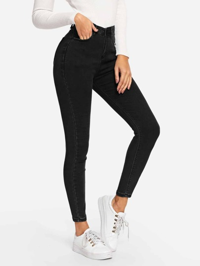 d9161c5b67e Plain Skinny Jeans
