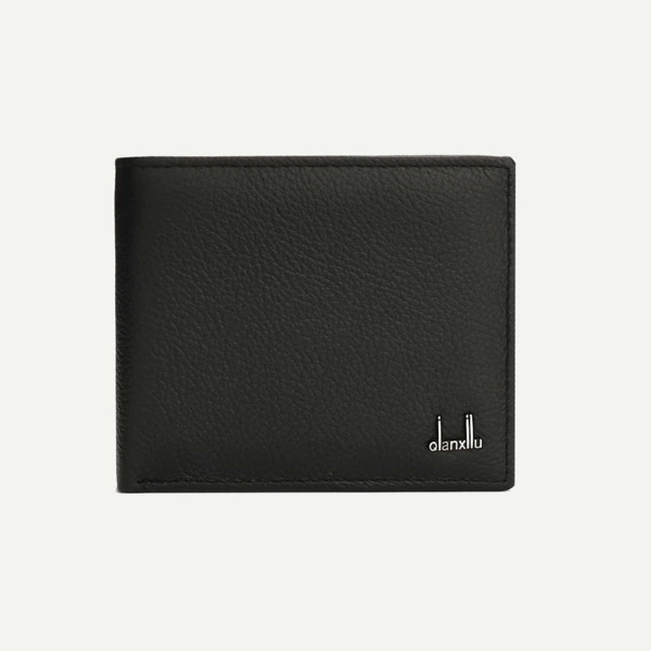 Men Textured PU Wallet, Black