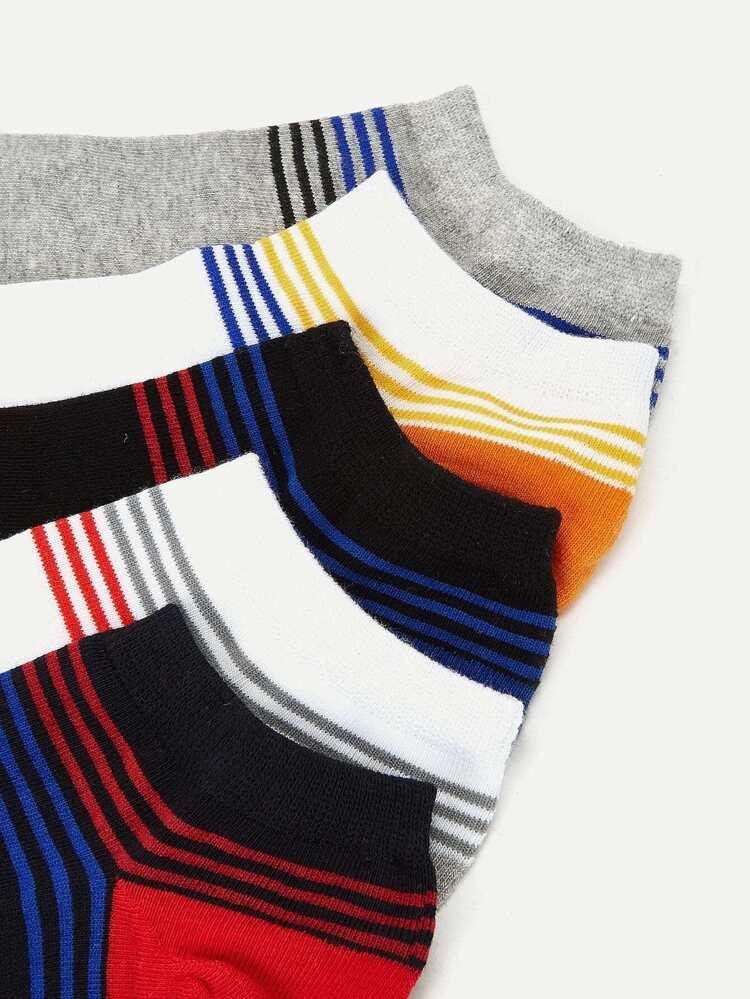 ba4e3d63d8c5e Мужские полосатые носки 5 пар | SHEIN