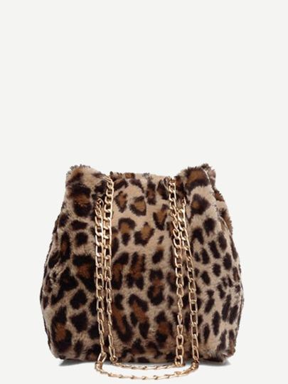 Leopard Pattern Chain Tote Bag 4f1d921bf2eb5