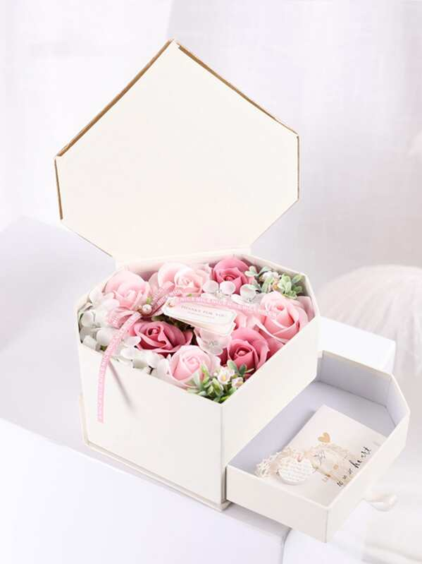 Boxed Artificial Soap Flower