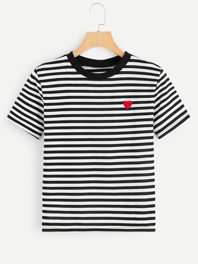 6795bdd86a3d T-shirt rayé avec motif