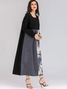 b0877b4c2417f ملابس عربية الخط أسود محتشم -Arabic SHEIN(SHEINSIDE)