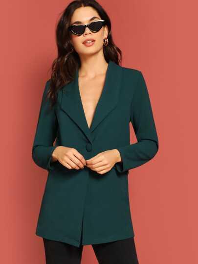77442eef2b5f Drop Shoulder Single Buttoned Coat