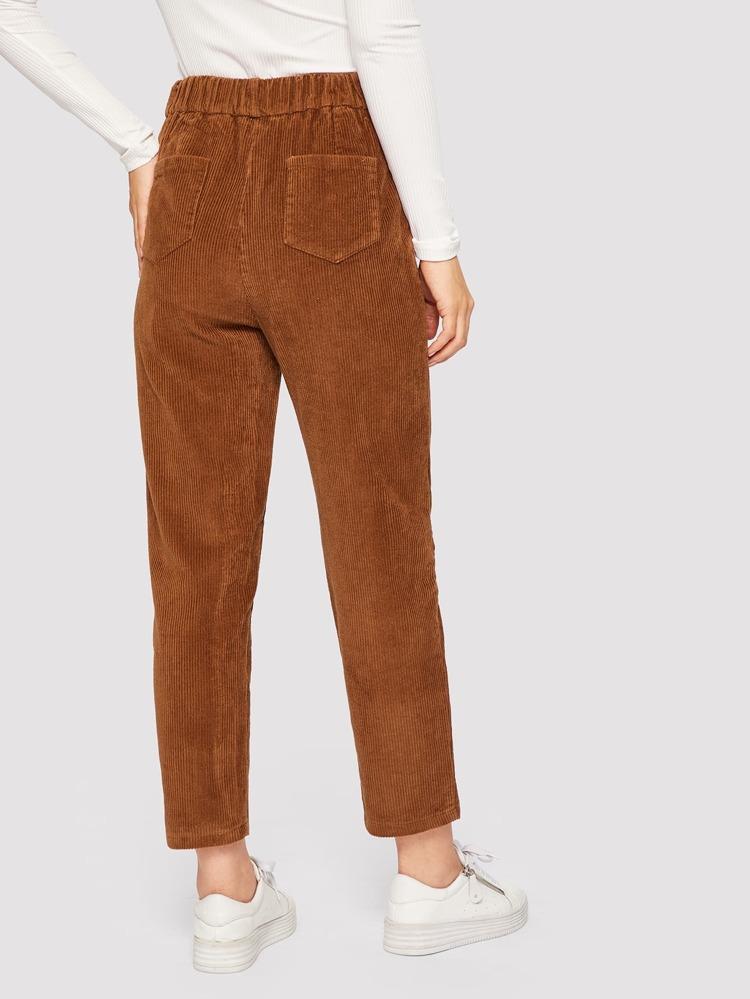 d49df0f75f Pantalones de pana con doble bolsillo trasero