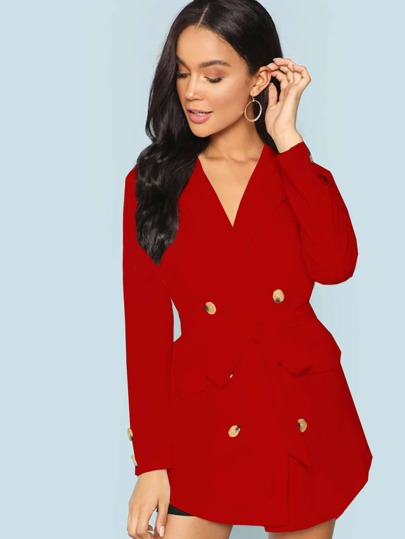 De Outerwear sheinside Shein Mujer Spanish ZHgT1q