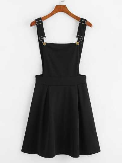 db6499b4e7 Plus Zip Back Solid Pinafore Dress