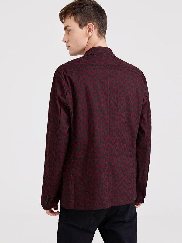 fb047d93ee63 Men Single Breasted Leopard Print Blazer -SheIn(Sheinside)