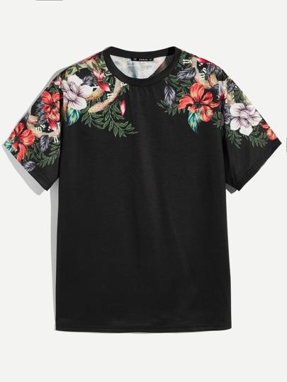 6016dea0256 Men Floral Print Tee