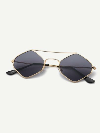 d6b8e801cb8 Men Top Bar Diamond Lens Sunglasses