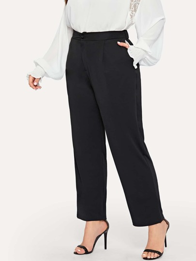 Plus Pocket Side Solid Pants 436a11401ab0
