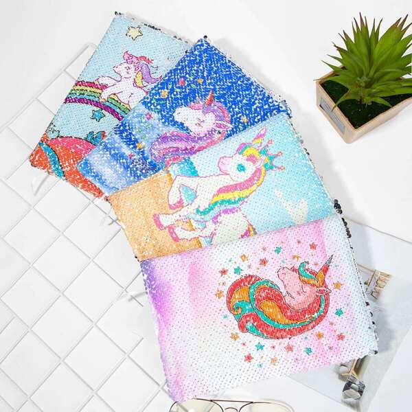 Unicorn Cover Sequin Notebook 1pack