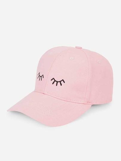 Eyelash Embroidery Baseball Cap 30fd4e7c336