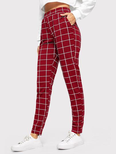 77b23fb82f1c Pantalon à carreaux avec poche