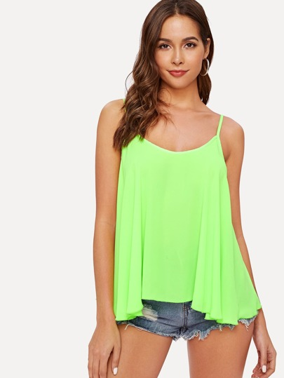 3be27f37363 Swing Neon Green Cami Top