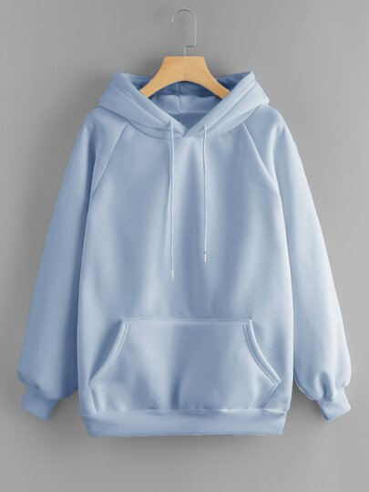 238aff6a0ed8a Drawstring Detail Solid Hoodie