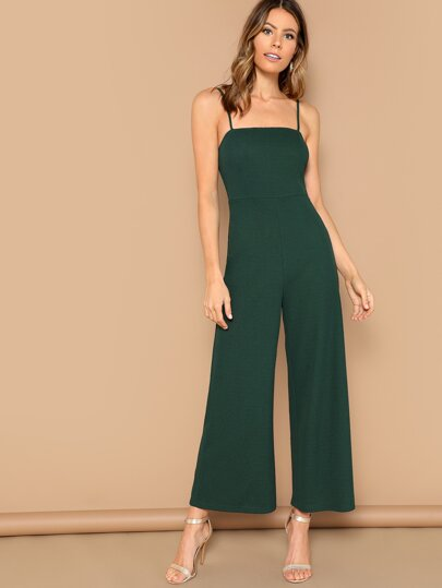 5f1be341f9a Solid Wide Leg Cami Jumpsuit