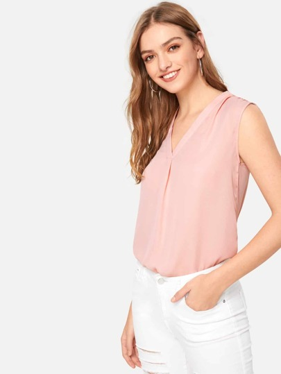 d7c9aece94d Gathered Shoulder Shell Top