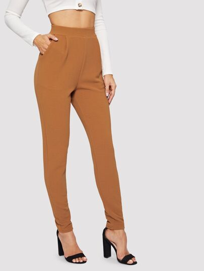 1d092d5dd9d6 Pocket Patched Peg Leg Textured Pants