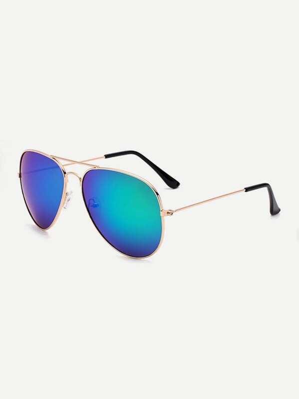 4f71adaa6ef Men Top Bar Aviator Sunglasses