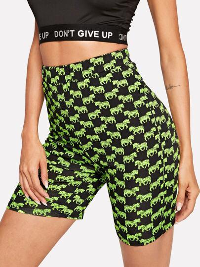 f03996590a1e1 Allover Zebra Print Short Leggings