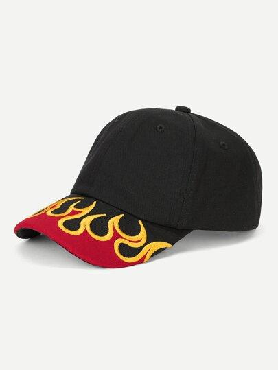 Gorro béisbol con bordado de fuego f244f2384f8
