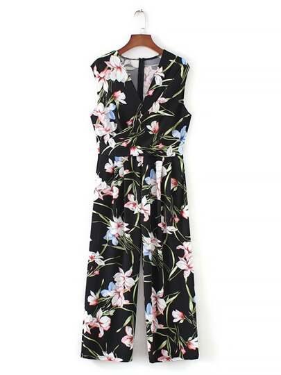 9ab75ba80610 Floral Print Zip Back Jumpsuit