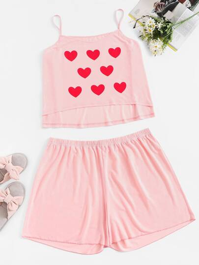 374b8b1ff3 Plus Heart Print Pajama Set