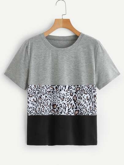 T-shirt avec imprimé léopard 6e746fceeb3