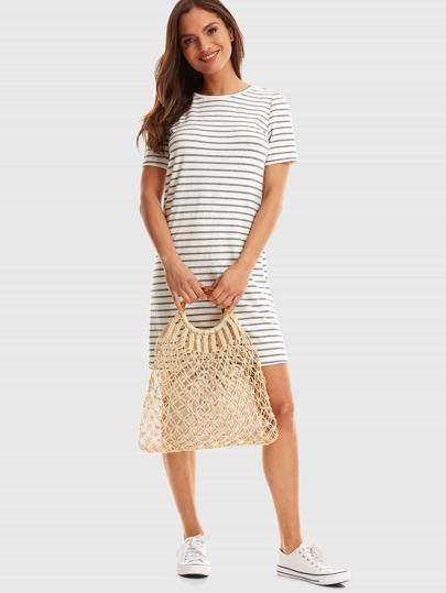 f6ad5bad93 Short Sleeve Striped Dress