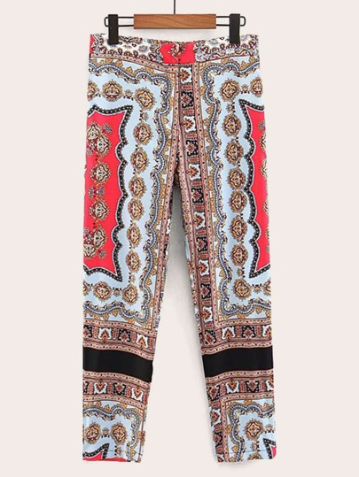 39765b8346d Pantalon à taille élastique avec imprimé