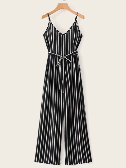 bc1a7b0cef0 Self Tie Striped Cami Jumpsuit