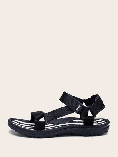 ff8b1cad244d Men Striped Detail Sandals