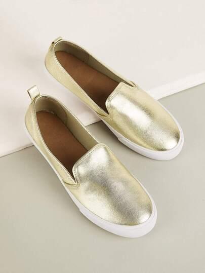 9899258f997 Metallic Detail Slip On Sneakers
