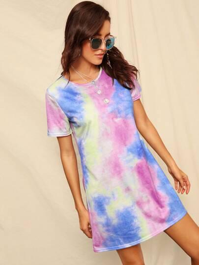 6a9d675a6f Tie Dye T-shirt Dress