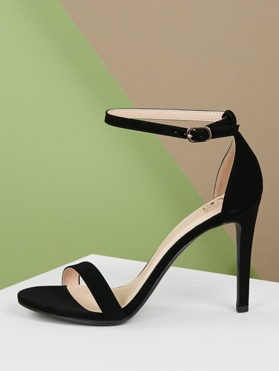 4a506d7ef85 Thin Band Ankle Strap Stiletto Heel Sandals
