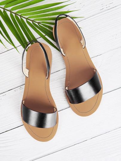 c9cd91899e1f Two Part Flat Sandals