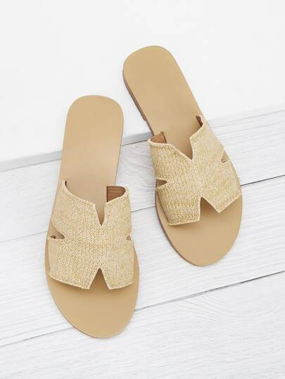 fab357cc1abbc Cut Out Flat Slippers