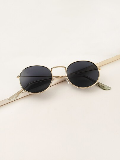 d71c38d64f Men Metal Frame Tinted Lens Sunglasses