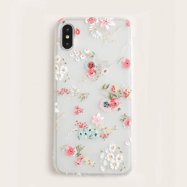 Floral iPhone Case, White