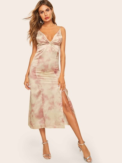 Robe tie and dye rose