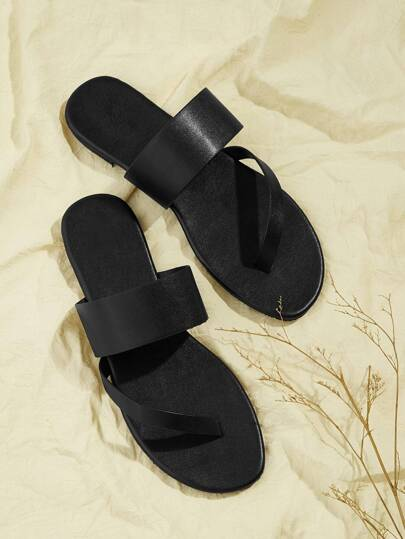 d089c1f08f0466 Two Part Flat Slippers