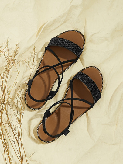 52f38557cfe5 Criss Cross Flat Sandals