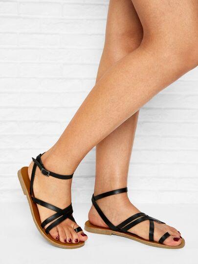 77073601dea5 Criss Cross Flat Sandals