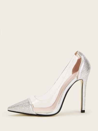 1f650f41a61 Transparent Point Toe Stiletto Heels