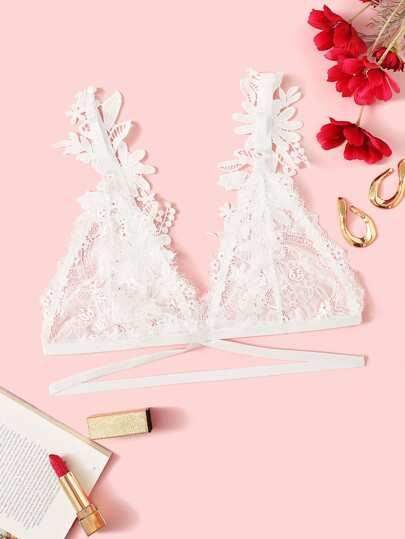 35c27afdeb Applique Floral Lace Bralette
