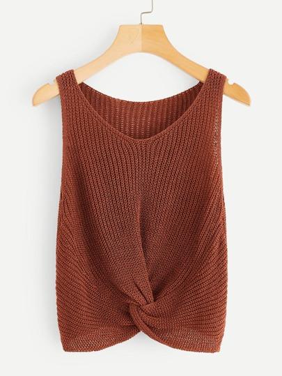 b7488cdb9d559 Twist Hem Knit Top