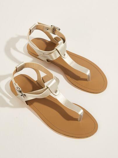 6373db3220b3 Toe Post T-strap Flat Sandals